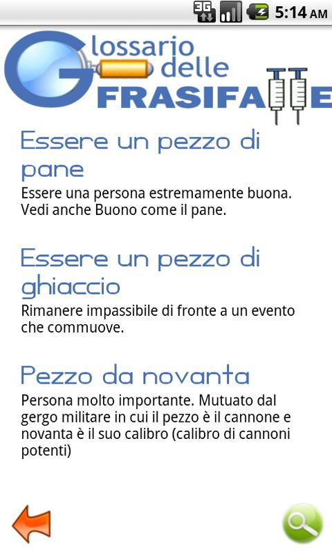 Glossario delle Frasi Fatte- screenshot