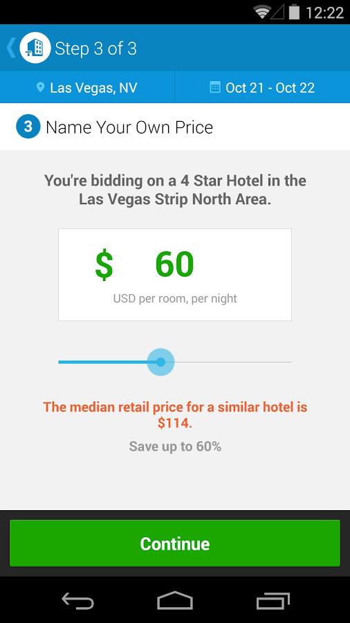 Priceline Hotels & Travel - screenshot