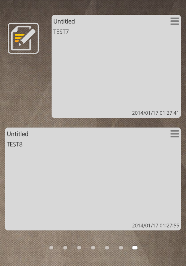 Secret MEMO (Memo Widget)- screenshot