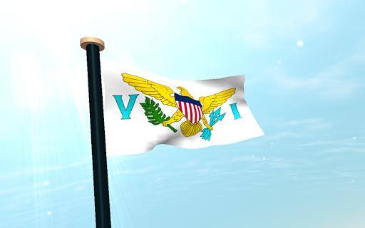 【免費個人化App】美屬維京群島,旗3D動態桌布-APP點子
