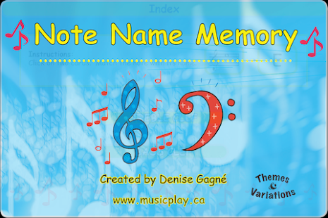 Note Name Memory- screenshot thumbnail