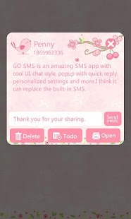 GO SMS Pro Love Petal Theme EX- screenshot thumbnail