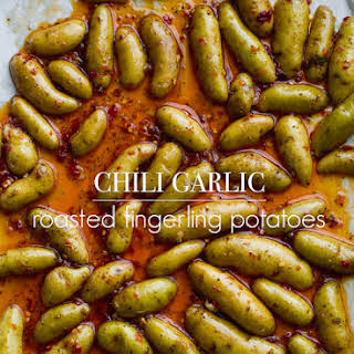 Chili Garlic Roasted Fingerling Potatoes with Fresh Herbs.