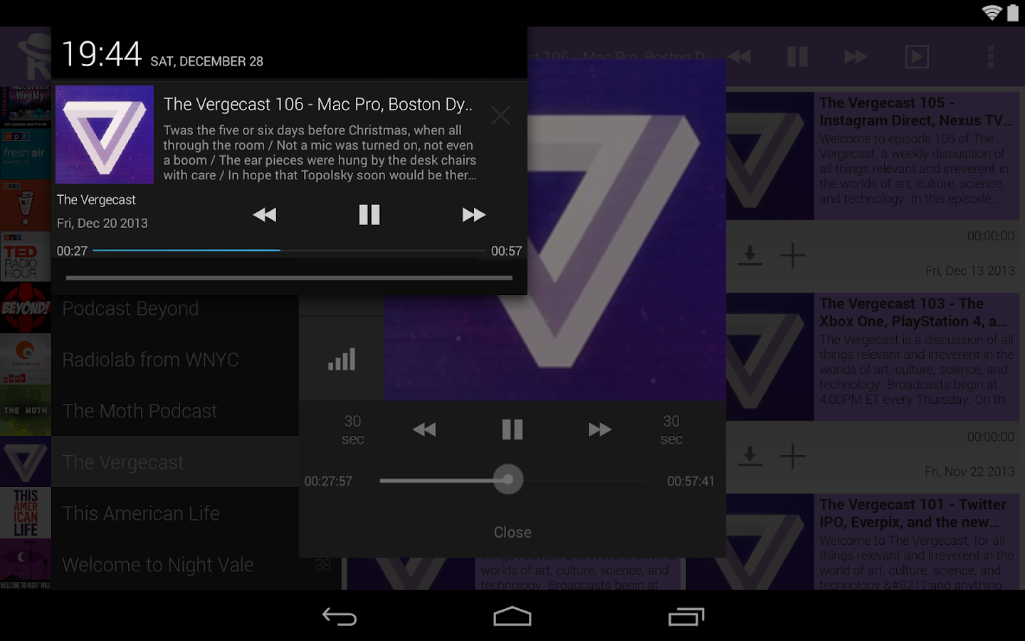 Receiver Podcast Manager - screenshot