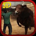 Bull Attack Run Simulation 3D icon