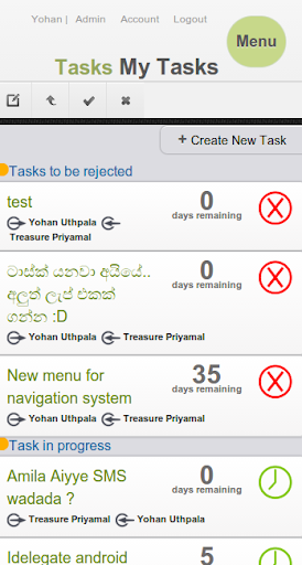 vDelegate Task Management