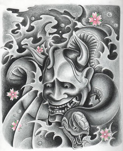 download hannya tattoo design wallpaper for pc. Black Bedroom Furniture Sets. Home Design Ideas