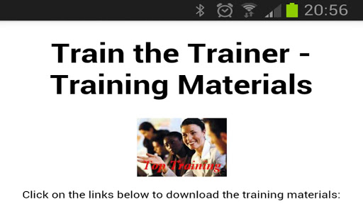 Train The Trainer Materials