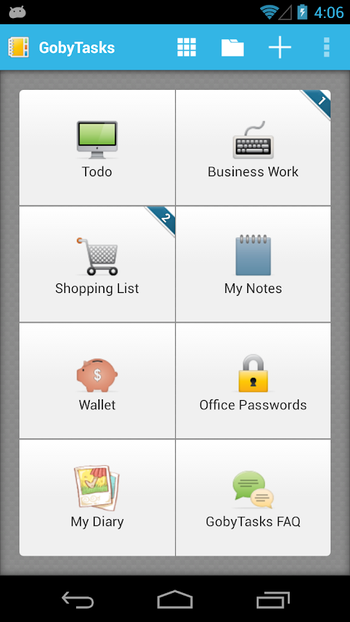 Goby Task To-do List Free - screenshot