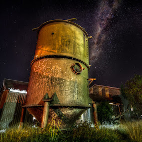 Walker at Wells Version 2 by Daryl James - Buildings & Architecture Other Exteriors ( industrial, hdr, stars, night, nightscape, milky way )