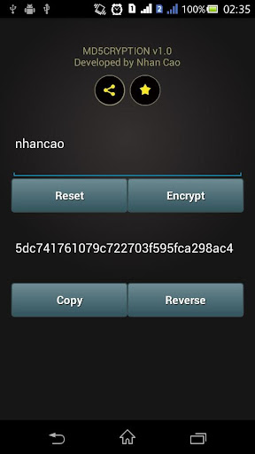 Md5cryption