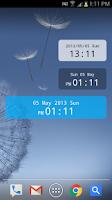 Screenshot of ClockWidget