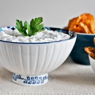 Caramelized Onion Greek Yogurt Dip.