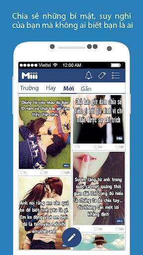 Miii - Mạng xã hội ẩn danh