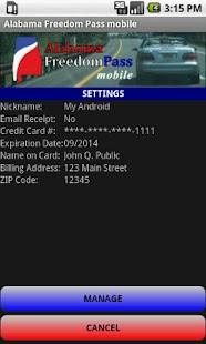 Alabama Freedom Pass mobile- screenshot thumbnail