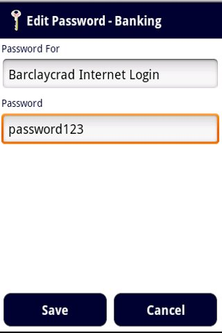 Password Locker- screenshot