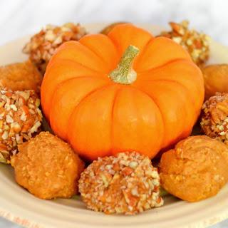 Vegan Pumpkin Peanut Butter Balls.