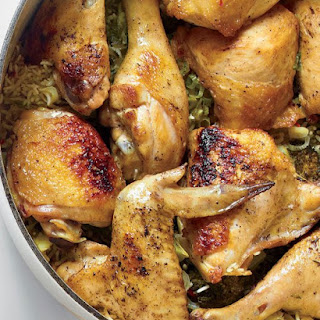 Chicken with Rice, Broccoli, and Scallions