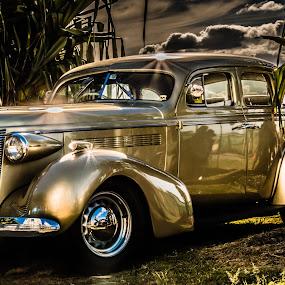 Golden Beauty by Esther Visser - Transportation Automobiles ( #old, #automobile, #car, #vintage, #gold,  )