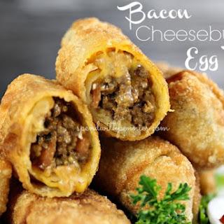 Bacon Cheeseburger Egg Rolls.