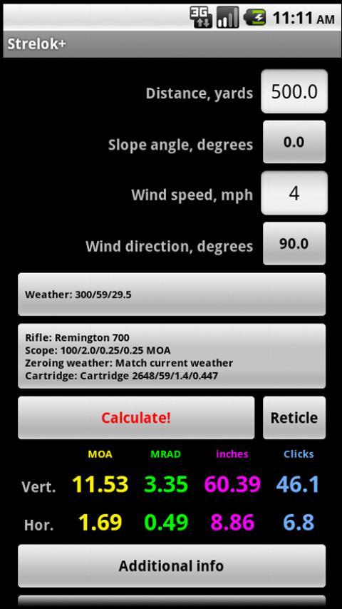 Strelok+ Screenshot