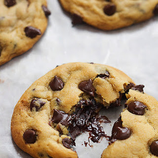 Hot Fudge Stuffed Chocolate Chip Cookies