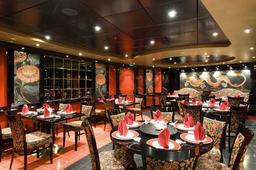 MSC-Orchestra-Shanghai-Chinese-Restaurant - One of  MSC Orchestra's speciality restaurants, Shanghai offers authentic Chinese dishes in an evocative setting that brings the exquisite lacquer pieces of China to mind.