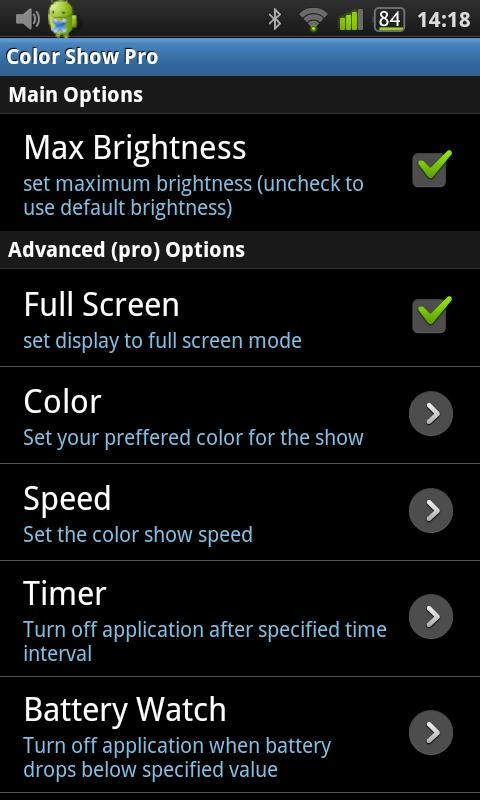 Color Show Pro - screenshot