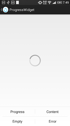 Progress Switcher Sample