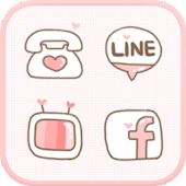 LOVE(Pink) icon theme