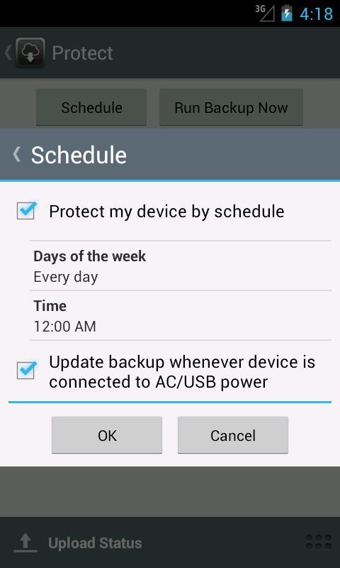 Managed Online Backup- screenshot