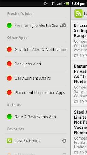 Fresher's Job Alert Search