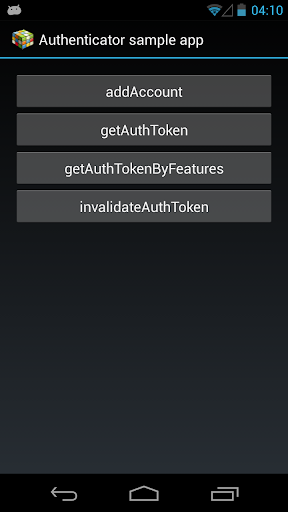 Authenticator Sample App