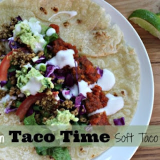 Vegan Soft Tacos with Raw Nut Meat.
