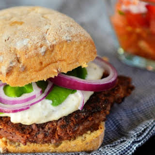 Game Day Kidney Bean and Tofu Burger [Vegan, Gluten-Free].