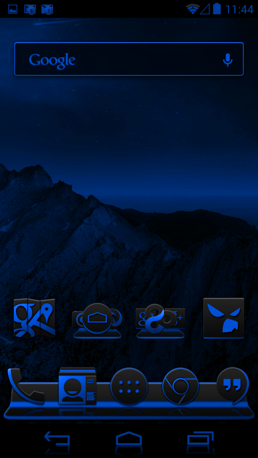 Jelly Bean Extreme Blue CM11 - screenshot