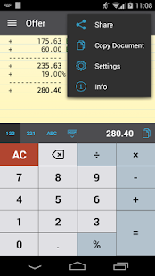 CalcTape Free Tape Calculator - screenshot thumbnail