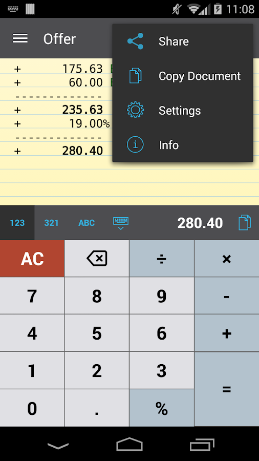 CalcTape Free Tape Calculator - screenshot