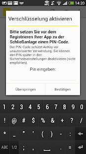 AirKey App – Miniaturansicht des Screenshots