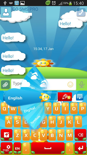 GO SMS Cute Sun Theme