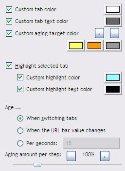 Firefox Extension Aging Tabs - Fades color of unused tabs - Instant