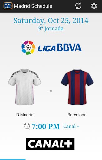 Madrid Schedule