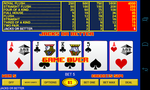 Video Poker - Original Games!- screenshot thumbnail