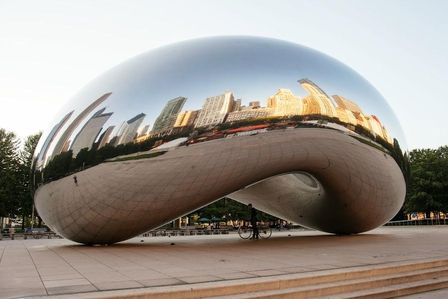 Cloud Gate by Heather Grossnickle Nyren - Buildings & Architecture Public & Historical ( statue, bean, art, millenium park, chicago )