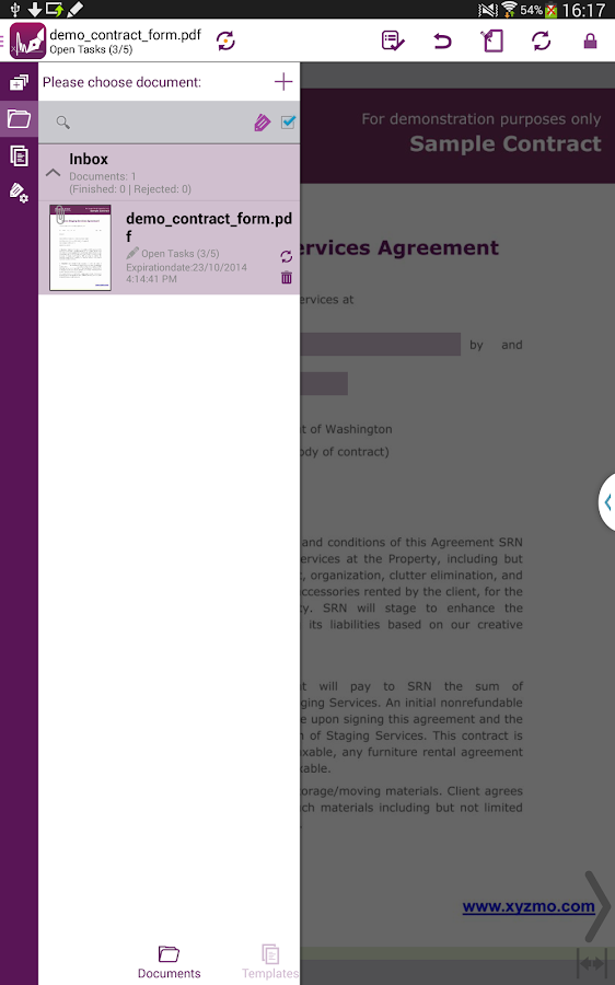SIGNificant E-Signing Client - screenshot