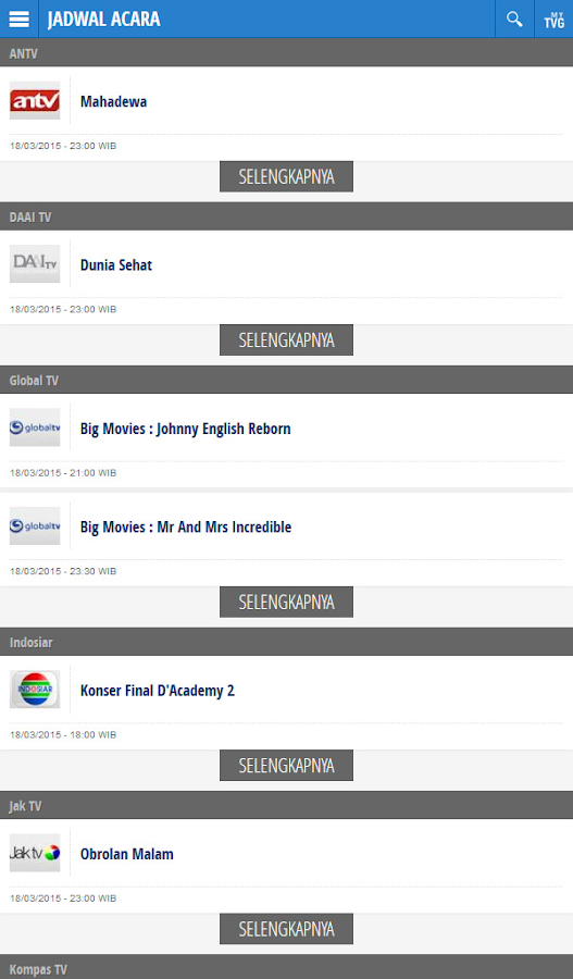 Jadwal TV Indonesia- screenshot