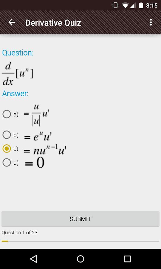 Derivative and Integral Rules- screenshot