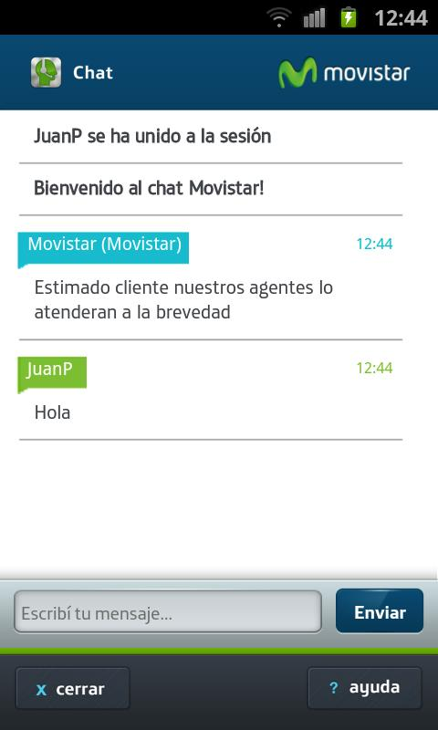 Chat- screenshot