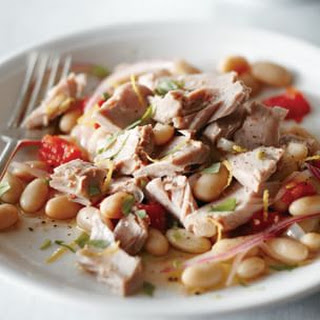 Tuna with Herbed White Beans