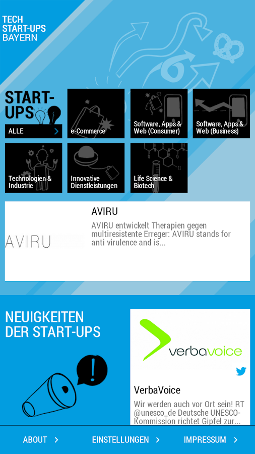 Tech Start-ups Bayern- screenshot
